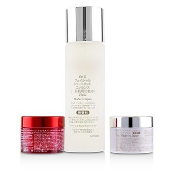 SK II Pitera Full Line Set: Treatment Essence 75ml + R.N.A. Power Milky Lotion 15g  + Cleansing Gel 15g + Cleanser 20g