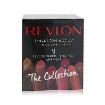 Revlon 9 Super Lustrous Lip Cube Set (Travel Collection Exclusive)