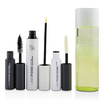 LashFood LashFood Lash Transformation System: (1x Eyelash Enhancer, 1x Lash Primer, 1x Mascara, 1x Eye Makeup Remover)