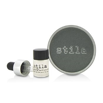 Stila Magnificent Metals Foil Finish Eye Shadow With Mini Stay All Day Liquid Eye Primer - Vintage Black Gold