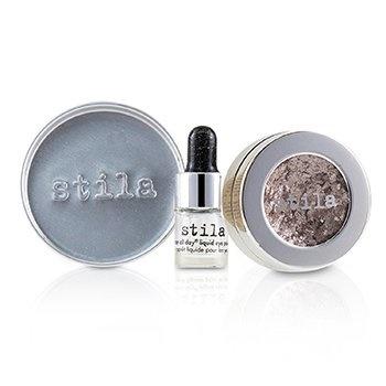 Stila Magnificent Metals Foil Finish Eye Shadow With Mini Stay All Day Liquid Eye Primer - Metallic Dusty Rose