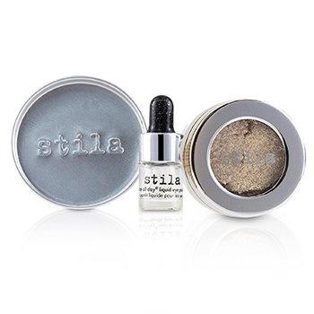 Stila Magnificent Metals Foil Finish Eye Shadow With Mini Stay All Day Liquid Eye Primer - Metallic Pixie Dust