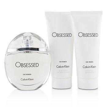 Calvin Klein Obsessed Coffret: EDP Spray 100ml/3.4oz + Body Lotion 100ml/3.4oz + Shower Gel 100ml/3.4oz