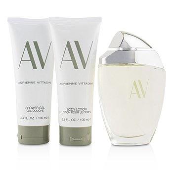 Adrienne Vittadini AV Coffret:EDP Spray 90ml/3oz + Body Lotion 100ml/3.4oz + Shower Gel100 ml