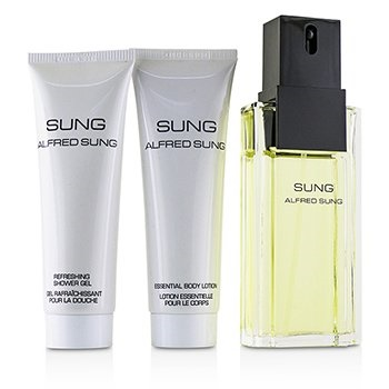 Alfred Sung Sung Coffret: EDT Spray 100ml/3.4oz + Essential Body Lotion 75ml/2.5oz + Refreshing Shower Gel 75ml/2.5oz