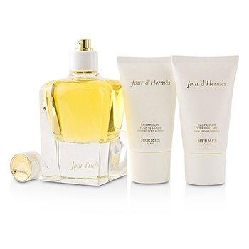 Hermes Jour D'Hermes Coffret: EDP Spray 85ml/2.87oz + Perfumed Body lotion 30ml/1oz + Bath & Shower Gel 30ml/1oz