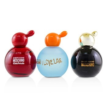 Moschino Cheap & Chic Coffret: Classic EDT + I Love Love EDT + Chic Petals EDT