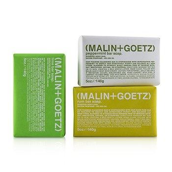 MALIN+GOETZ Mojito Soap Set: Lime + Rum + Peppermint Bar Soap