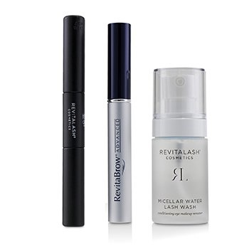 RevitaLash Eye Perfecting Gift Collection : (1x Eyebrow Conditioner, 1x Conditioning Eye Makeup Remover, 1x Volumizing Mascara Black)
