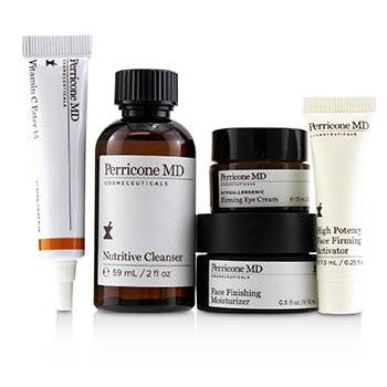 Perricone MD Discover The Power Essentials Kit: Nutritive Cleanser+Firming Activator+Finishing Moisturizer+Eye Cream+Vitamin C Ester