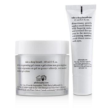 Philosophy Take A Deep Breath Oxygenating Face & Eye Duo: Face Gel Cream 60ml + Eye Gel Cream 15ml