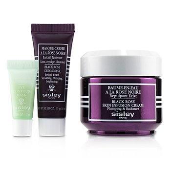 Sisley Black Rose Skin Infusion Cream Discovery Program: Black Rose Skin Infusion Cream 50ml+Black Rose Cream Mask+Eye Contour Mask