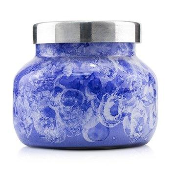 Capri Blue Watercolor Jar Candle - Blue Jean