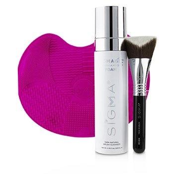 Sigma Beauty Max + Magic Total Set (Foundation Brush + Foundation Brush Care)