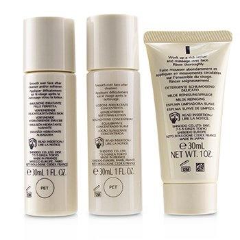 Shiseido IBUKI Simple Start Set: Gentle Cleanser 30ml + Softening Concentrate 30ml + Refining Moisturiser 30ml
