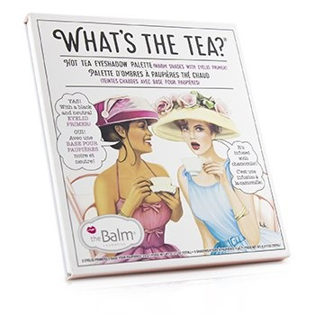 TheBalm What's The Tea? Hot Tea Eyeshadow Palette (Warm Shades With Eyelid Primer)