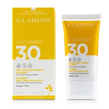 Clarins Invisible Sun Care Gel-To-Oil For Face SPF 30