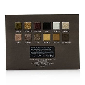 Bellapierre Cosmetics 12 Color Pro Natural Eye Palette (12x Eyeshadow)