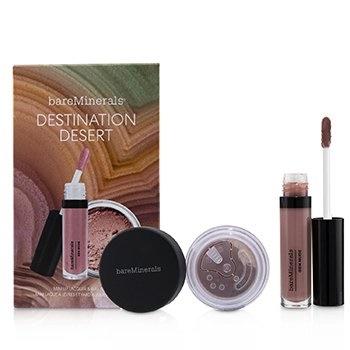BareMinerals Destination Desert (1x Mini Lip Lacquer, 1x Blush)