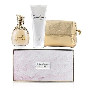 Jessica Simpson Signature Coffret: EDP Spray 100ml/3.4oz + Body Lotion 200ml/6.7oz + Cosmetic Bag