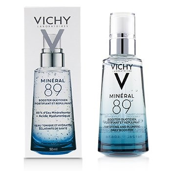 Vichy Mineral 89 Fortifying & Plumping Daily Booster (89% Mineralizing Water + Hyaluronic Acid)