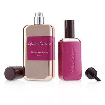 Atelier Cologne Rose Anonyme Coffret: Extrait Spray 100ml/3.3oz + Extrait Spray 30ml/1oz + Leather Case