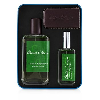 Atelier Cologne Jasmin Angelique Coffret: Cologne Absolue Spray 100ml/3.3oz +  Cologne Absolue Refillable Spray 30ml/1oz + Leather Case