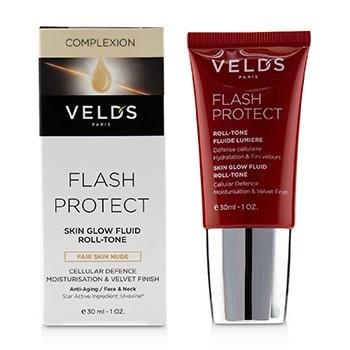 Veld's Flash Protect Skin Glow Fluid Roll -Tone (Beauty Shield) - Fair Skin Nude