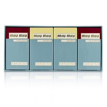 Miu Miu Miniature Coffret: EDP 7.5ml x 2 + L'Eau Bleue EDP 7.5ml x 2