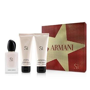 Giorgio Armani Si Fiori Coffret: EDP Spray 50ml/1.7oz + Moisturizing Body Lotion 75ml/2.5oz + Perfumed Shower Gel 75ml/2.5oz