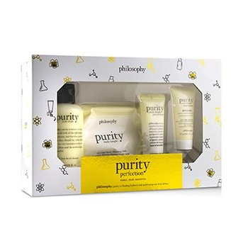 Philosophy Purity Made Simple Purity Perfection Set: 1x Cleanser 120ml + 1x Moisturizer 15ml + 1x Cleansing Cloths 15pcs + Clay Mask 30ml