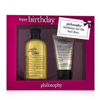 Philosophy Happy Birthday 2-Piece Vanilla Birthday Cake Set