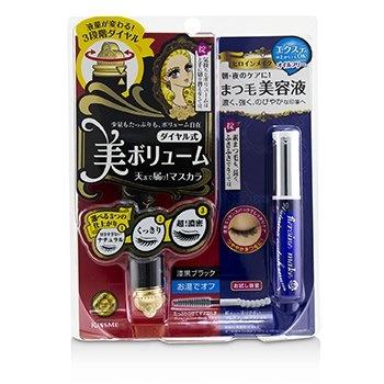 KISS ME Heroine Make SP Heroine Make Volume Control Mascara & Watering Eyelash Serum Set - # 01 Black