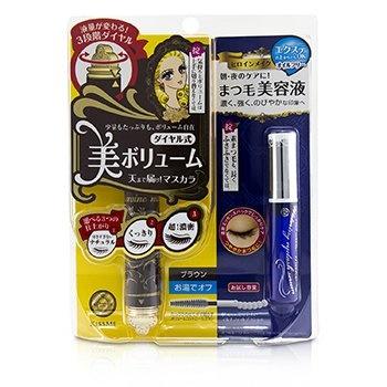 KISS ME Heroine Make SP Heroine Make Volume Control Mascara & Watering Eyelash Serum Set - # 02 Brown