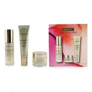 BareMinerals Give Good Skin Trio Set: Vital Power Infusion 30ml+ Vital Power Moisturizer SPF 30 30ml+ Vital Power Sleeping Gel Cream 30g