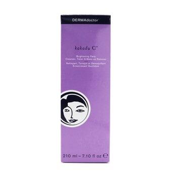 DERMAdoctor Kakadu C Brightening Daily Cleanser, Toner & Makeup Remover (Tube)