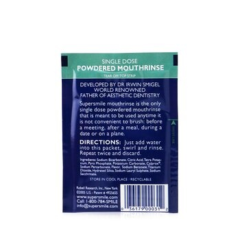 Supersmile Single Dose Powdered Mouthrinse (No Alcohol/Sugar)