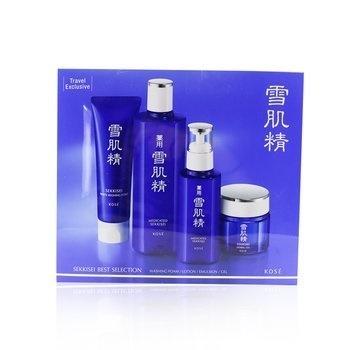 Kose Sekkisei Best Selection Set: Medicated Sekkisei 360ml + Sekkisei Emulsion 140ml + Washing Foam 130g + Herbal Gel 80g