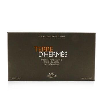 Hermes Terre D'Hermes Coffret: Pure Parfum Spray + EDT Spray + Eau Tres Fraiche Spray