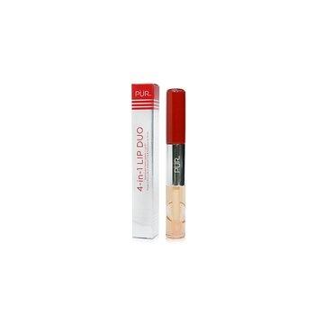 PUR (PurMinerals) 4 in 1 Lip Duo  (Dual Ended Matte Lipstick + Lip Oil) - # Single 4 Tonight