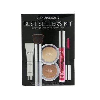 PUR (PurMinerals) Best Sellers Kit (5 Piece Beauty To Go Collection) (1x Powder, 1x Primer, 1x Bronzer, 1x Mascara, 1x Brush) - # Light Tan