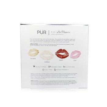 PUR (PurMinerals) 4 In 1 Lip Toppers Glitter Lip Enhancer Kit (4x Lip Topper)