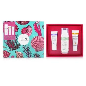 Ren Face Favourites Set: Glycol Latic Mask 15ml + Evercalm Day Cream 50ml + keep Young & Beautiful Beauty Shot 10ml