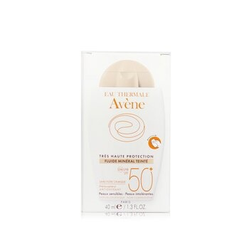 Avene Very High Protection Tinted Mineral Fluid SPF 50+ - For Sensitive & Intolerant Skin