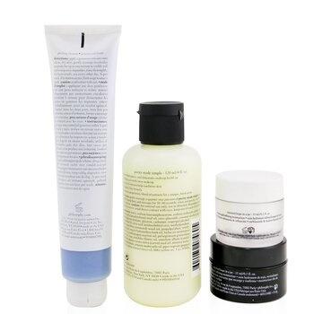 Philosophy Renewed & Grateful 4-Pieces Gift Set: One-Step Facial Cleanser 120ml + Peeling Mousse 75ml + Overnight Moisturizer 15ml + Moisturizer 15ml