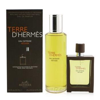 Hermes Terre D'Hermes Eau Intense Vetiver Coffret: EDP Spray 30ml + Refill 125ml