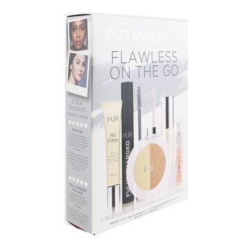 PUR (PurMinerals) Flawless On The Go 5 Piece Bestsellers Kit (1x Mini Primer, 1x Mascara, 1x Mineral Glow, 1x Mini Lip Oil, 1x Mini Mist)