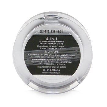 PUR (PurMinerals) 4 in 1 Pressed Mineral Makeup Broad Spectrum SPF 15 - # LP5 Ivory (Box Slightly Damaged)