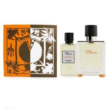 Hermes Terre D'Hermes Coffret: EDT Spray 50ml/1.6oz + Hair And Body Shower Gel 40ml/1.35oz