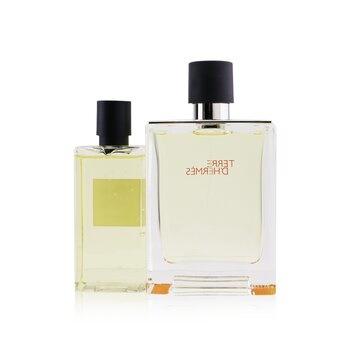 Hermes Terre D'Hermes Coffret: EDT Spray 100ml/3.3oz + Hair And Body Shower Gel 80ml/2.7oz